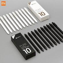 Xiaomi Lote de 10 unidades de bolígrafo KACO de 0,5mm, bolígrafo para firmar, tinta Gal, escritura suave, recarga negra, no pluma estilográfica