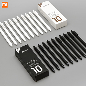 Image 1 - Xiaomi Lote de 10 unidades de bolígrafo KACO de 0,5mm, bolígrafo para firmar, tinta Gal, escritura suave, recarga negra, no pluma estilográfica