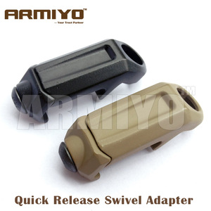 "Armiyo Tactical 1.25"" Quick Release Swivel Bolt Adapter Airsoft Handguard Rail Attach Mission Sling Hunting Pouches Accessories(China)"
