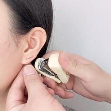 Домино ручной работы штапельные серьги минималистский отверстие для уха