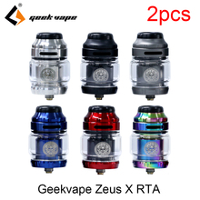 цены на 2pcs/lot vape tank Geekvape Zeus X RTA 4.5ml tank capacity with 810 Delrin drip tip vape atomizer rta fit Drag 2 drag mini  в интернет-магазинах