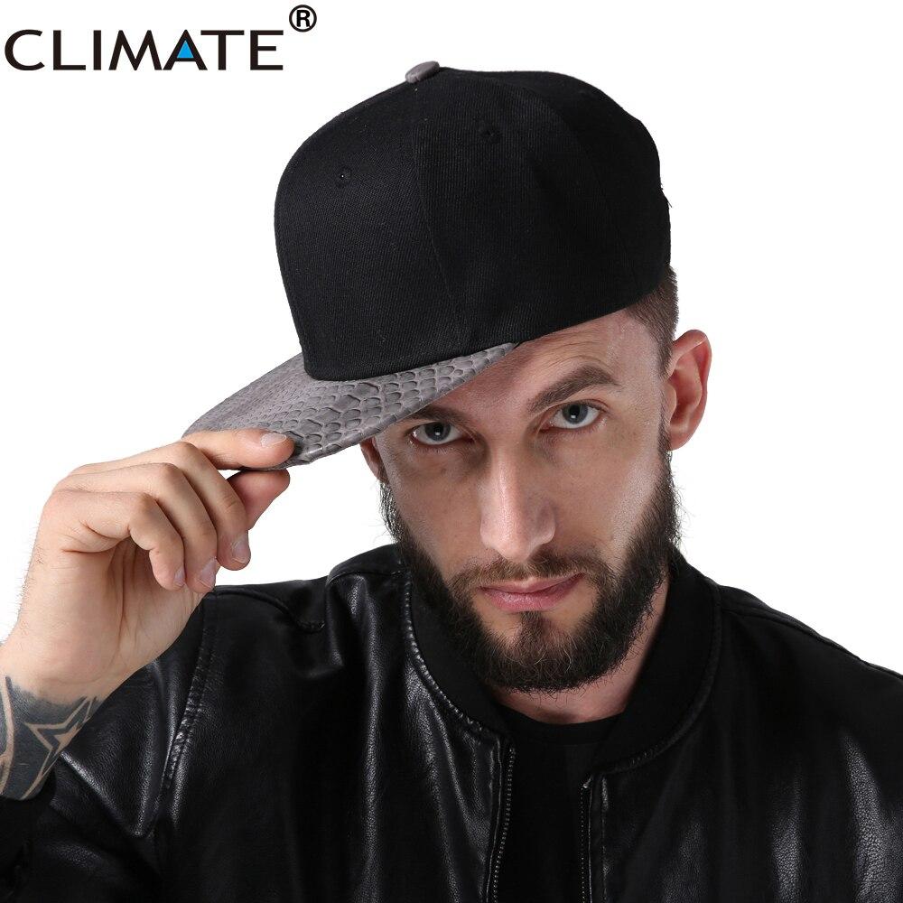 Climate Men Hip Hop Snapback Cap Man Snapback Caps Street Dancer Rapper Caps Solid Blank Black Hiphop Dancer Baseball Caps Hat