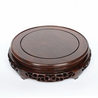 Solid Wood Carved Wooden Vase Flowerpot Tank Round Big Base Household Act The Role Ofing Is