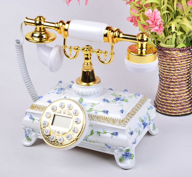 Ye are the top European Garden antique landline retro Home Office telephone Decoration home art fitted Redial vintage phone in Figurines Miniatures from Home Garden