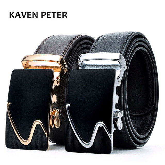 Men's Fashion 100% Genuine Leather Belts For Men High Quality Metal Automatic Buckle Strap Male Jeans Cowboy Free Shipping