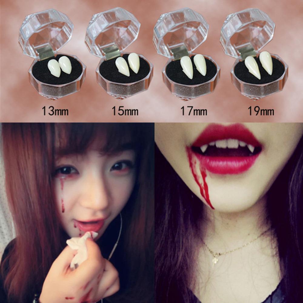 4 Styles Horrific Fun Clown Dress Vampire Teeth Halloween Party Dentures  Props Zombie Devil Fangs Tooth With Dental Gum