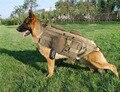 Coletes À Prova de Cão Cão Roupas de Carga Ao Ar Livre Militar do exército Tático SWAT Tactical Molle Do Treinamento Do Cão Arnês Arnês Colete XS-XL