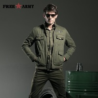 Men Jacket Jean Military Plus Size Military Army Casual Washing Cotton Mens Clothing Autumn Male Coats