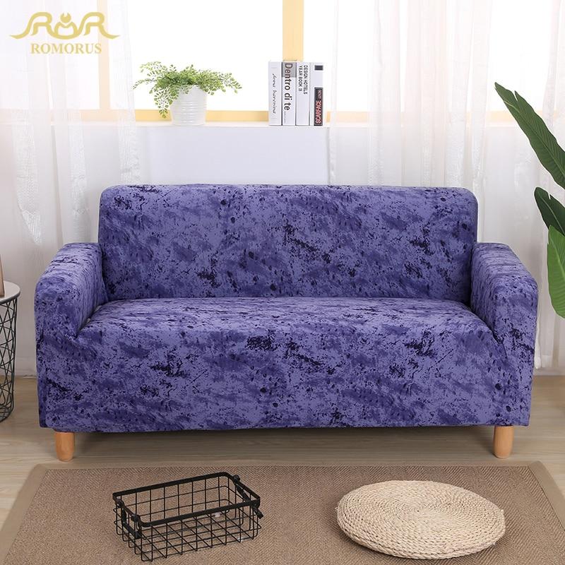 ROMORUS Elastic Cotton Sofa Cover Slipcover Solid Color