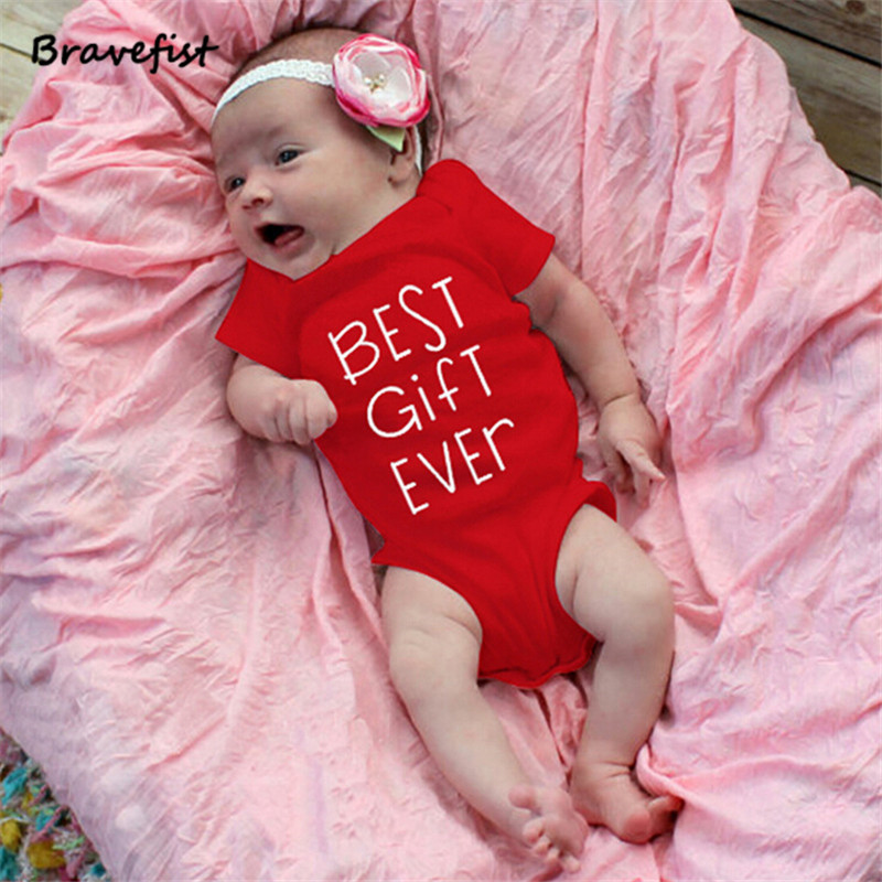 Fashion Onesies Red Baby Bodysuits Infant Jumpsuit Short Sleeve Baby Clothing Set Summer Baby Girl Clothes 0-1Years Best Gift