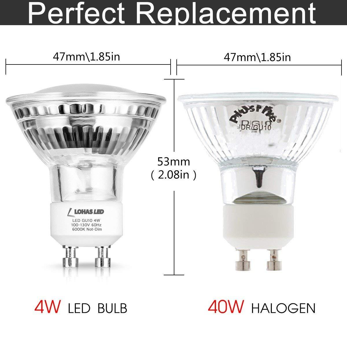 Us 17 59 12 Off Gu10 Led Light Bulb Track Lighting 40w Equivalent Daylight White 6000k 4w Spotlight 420lm Lamp For Pedant Fixtures 6pack In