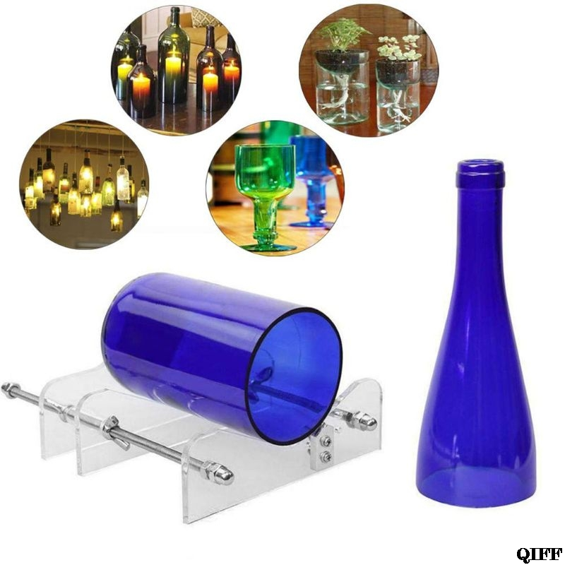 Glass Bottle Cutter,Round Bottle Cutting Machine, DIY Machine For Cutting Wine, Beer, Liquor Water Or Soda Round Bottles Jun19