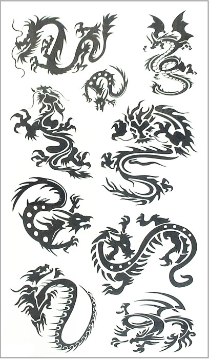 Nu-TATY Black Dragon Totem Temporary Tattoo Body Art Arm Flash Tattoo Stickers 17*10cm Waterproof Fake Henna Painless Tattoo 13
