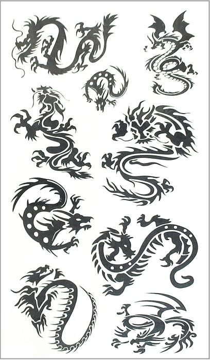 Nu-TATY Black Dragon Totem Temporary Tattoo Body Art Arm Flash Tattoo Stickers 17*10cm Waterproof Fake Henna Painless Tattoo 13