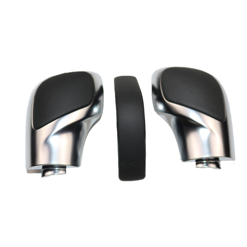 Image 5 - DAZOO Chrome Matt With Leather DSG Shift Knob Gear Side Cover DSG Emblem For V W Golf 6 7 R Passat B7 B8 CC R20 J etta MK6 GLI-in Gear Shift Knob from Automobiles & Motorcycles