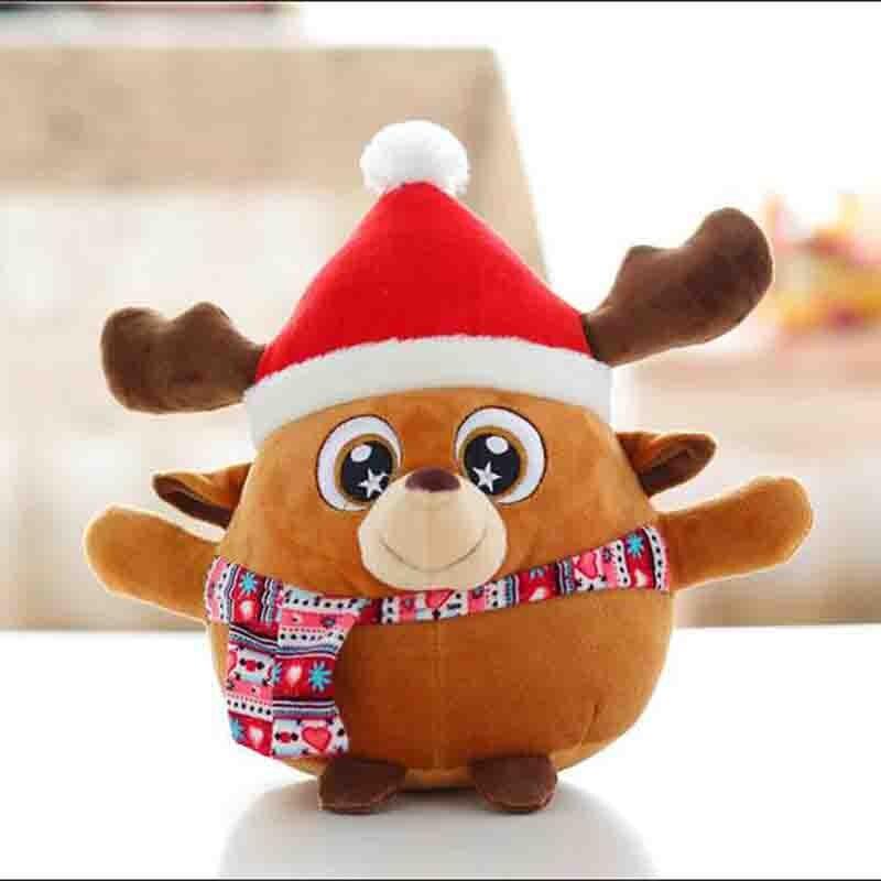 Cartoon Christmas Toys : Cartoon funny lucky santa reindeer plush toys christmas