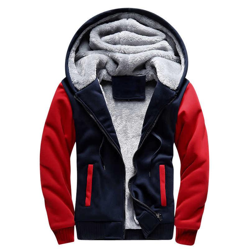 Зимняя Толстая куртка-бомбер мужская куртка с капюшоном Мужская jaqueta masculina спортивная мужская теплая толстовка с капюшоном флисовое пальто 2018 размер США 4XL