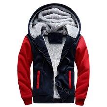Winter Thick Bomber Jacket Men Hoody Jacket Men jaqueta masculina Sportswear Male Men's Warm hoodie Fleece Coat 2018 US Size 4XL