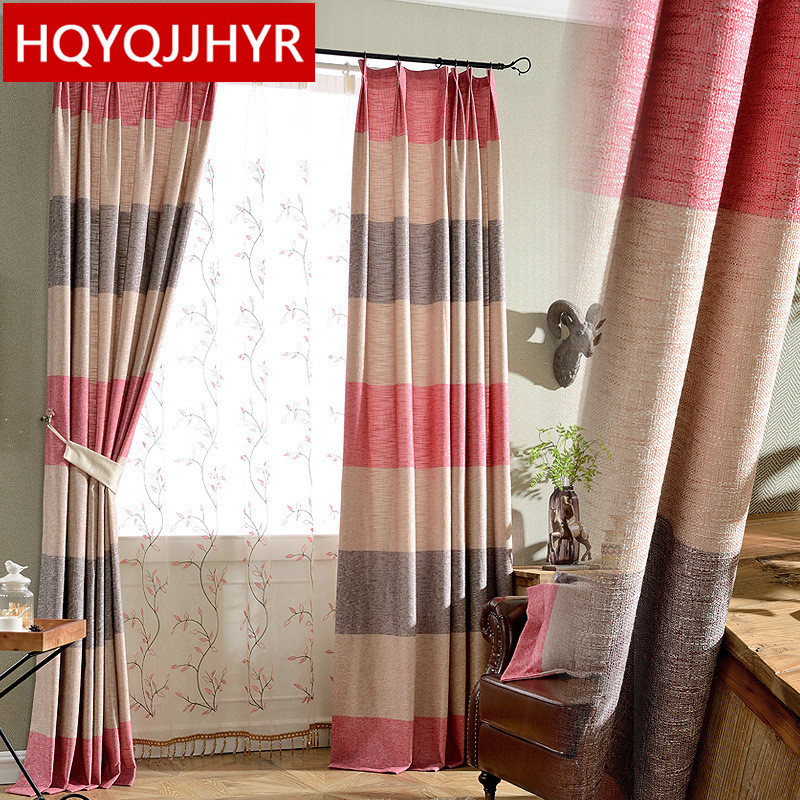 2016 Chinese Striped Cotton And Linen Printing Shade