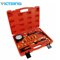 VicTsing TU 114 Manometer Fuel Injection Pressure Tester Kit with Case Gauge Kit for Gasoline driven Car Truck SUV 0 140 PSI