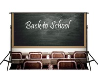Kate 7x5ft 2 2x1 5m Back To School Photography Backdrops Chairs Wood Desks Blackboard Chalk Words