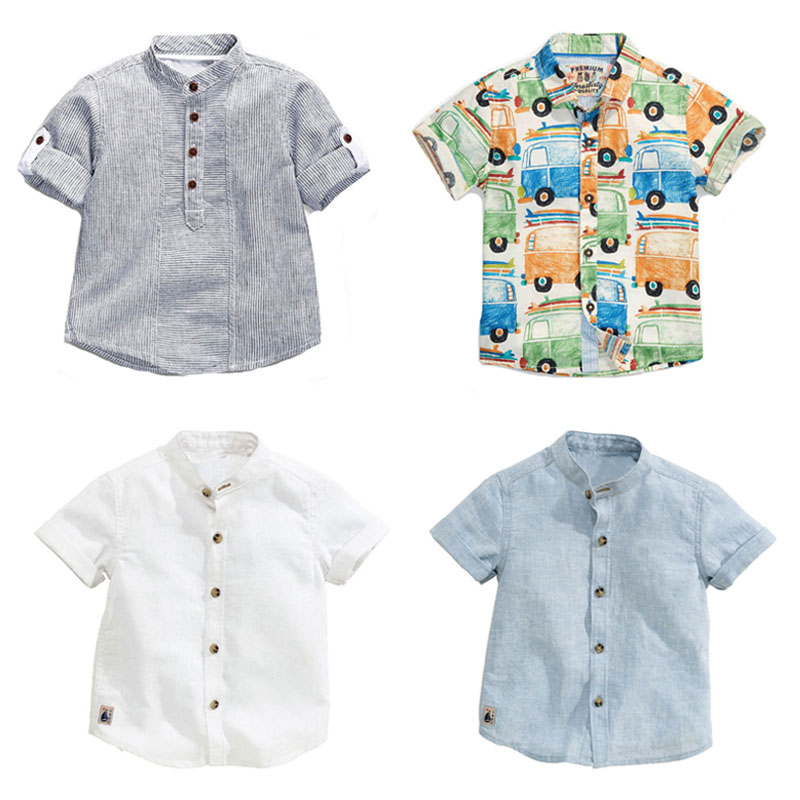 Quality 100% Cotton New 2018 Summer Baby Boys Shirt Kids Children Clothing Tee Short Sleeve Shirts Baby Boys Clothes Summer Tops boys tee