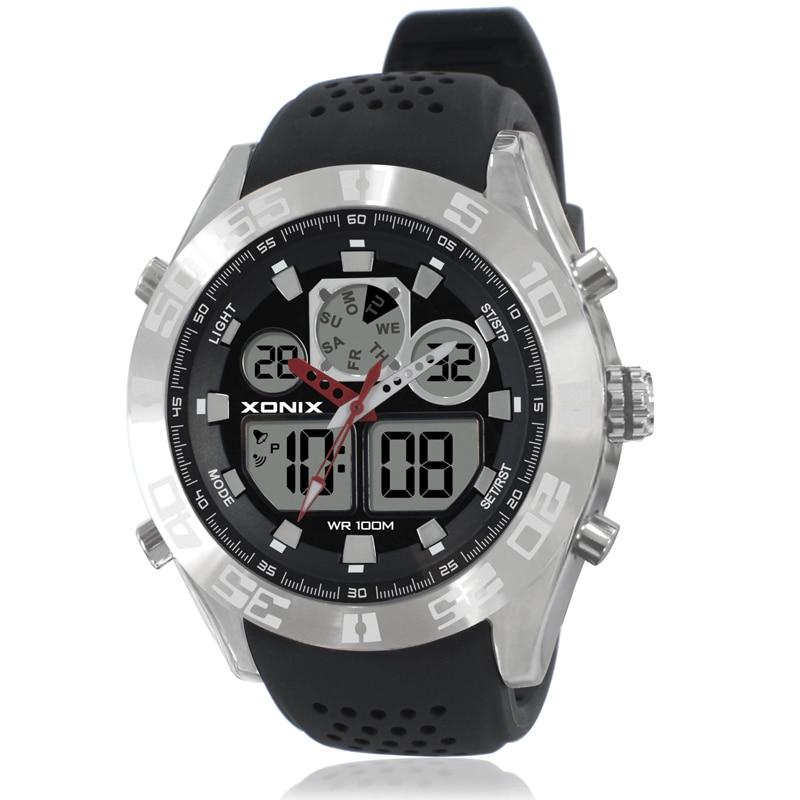Top marque XONIX montre de luxe hommes 100 M Relogio Masculino LED numérique plongée natation Reloj Hombre Sports montres en acier inoxydable