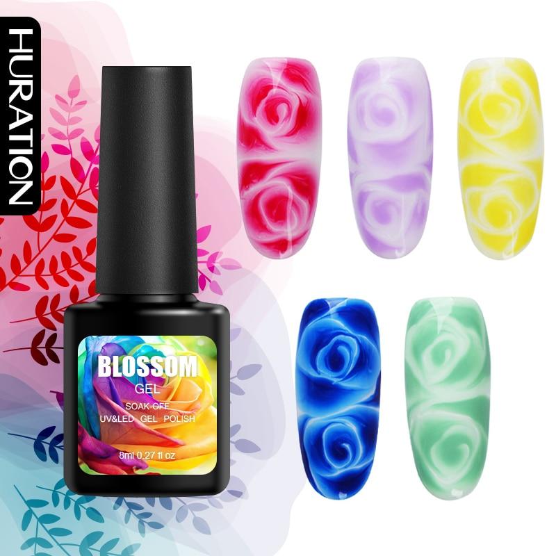 Huration Newest Professional 8ML Blossom Nail Gel Polish Soak Off UV LED Gel Varnish Manicure DIY Blossom Nail Art Gel Lacquer