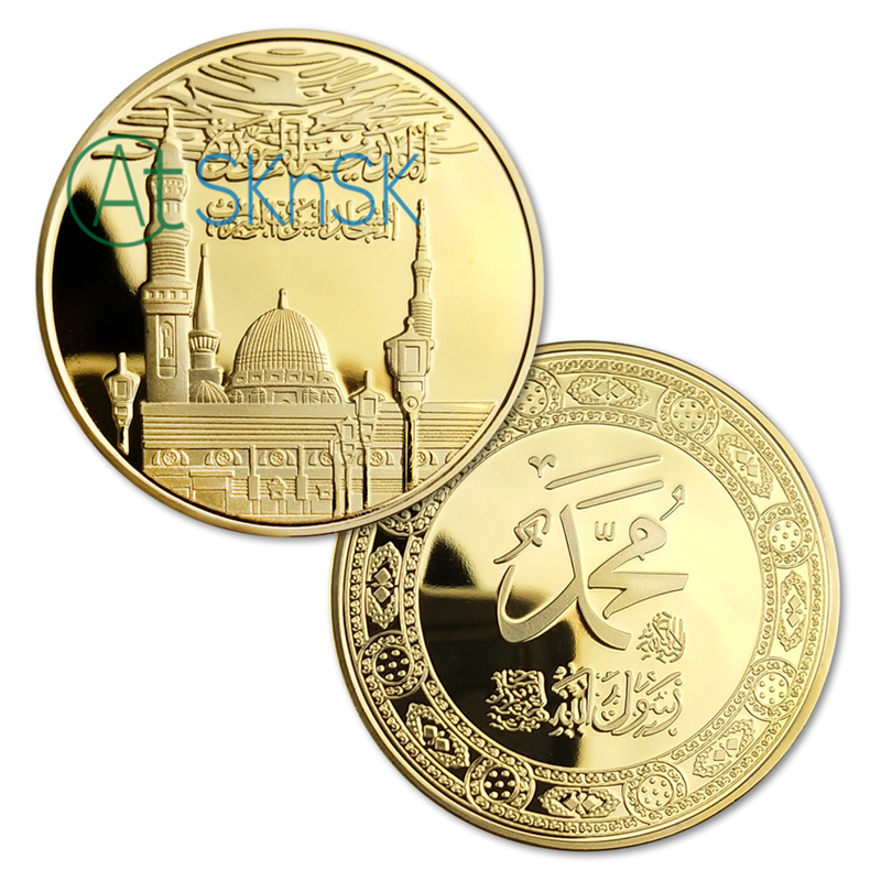 Indian head  24 kt gold plated   clad  copy    40 mm  coin
