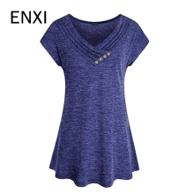 ENXI Summer Maternity T-shirt Pregnant Women Black Grey Tops Tees Clothes Pregnancy Wear Basic T Shirt Clothing 2018