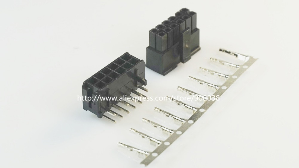 43045 Lighting Accessories Connectors Intelligent 200 Sets Micro-fit Connector 3.0mm 2x6 Pin 12 P Wafer Right Angle Plus Receptacle Housing And Terminal 43025