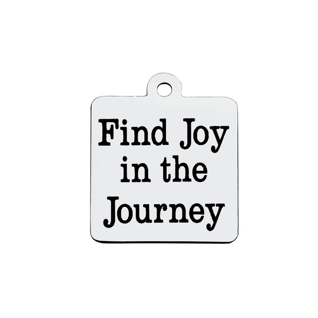 Bulk 30pcs Stainless Steel Find Joy In The Journey Charms