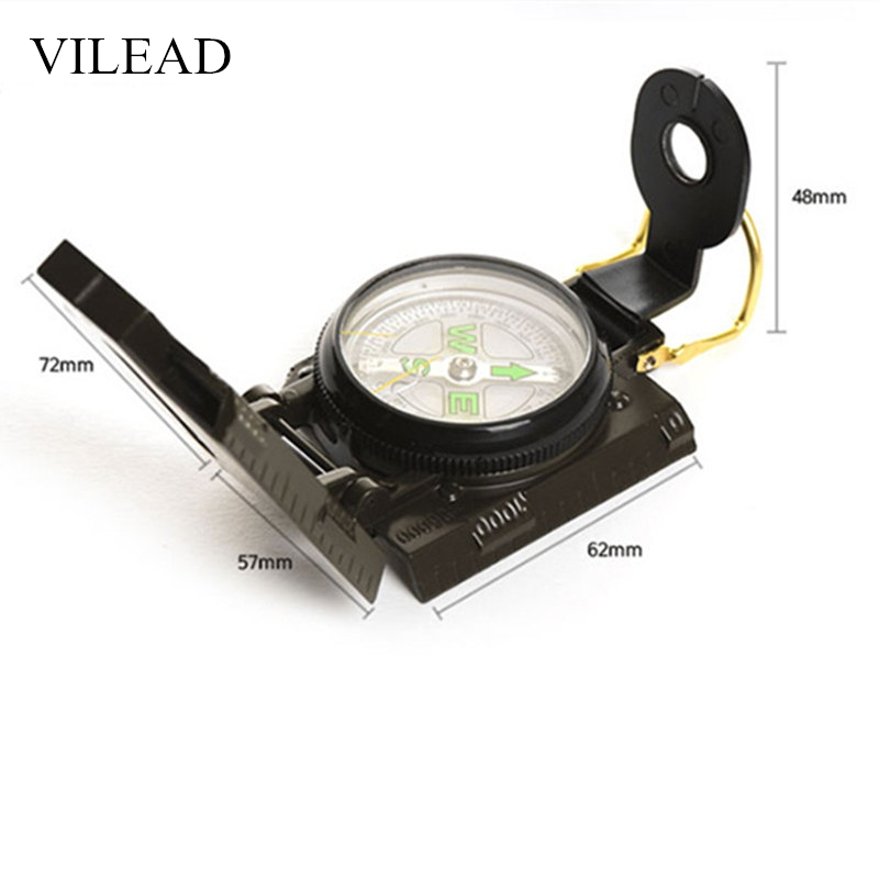 VILEAD Magnetic Army Us Military Survival Compass Professional Camping Compass Pocket Watch North Compass Outdoor Directional
