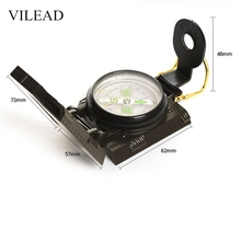 цены VILEAD Magnetic Army Us Military Survival Compass Professional Camping Compass Pocket Watch North Compass Outdoor Directional