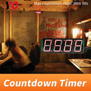 Image 4 - אלחוטי ספירה לאחור טיימר חדר בריחה משחק אבזרי ארבע תצוגה דיגיטלית משתמשים יכול להגדיר זמן YOPOOD אמיתי חיים Takagism משחק ספק