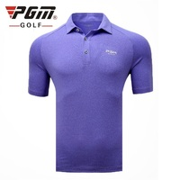 2019 Pgm Men's Golf Shirt Summer Short Sleeve Breathable Tops For Men Outdoor Quick Drying Muscle Exercise Shirt AA11832