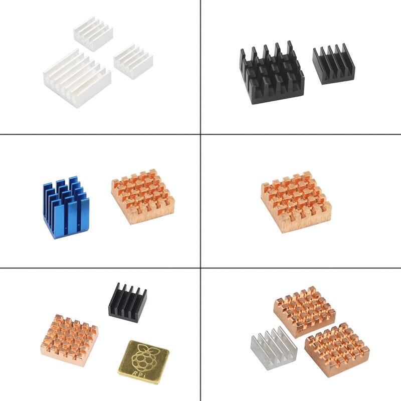 Raspberry Pi Heatsinks Copprt Aluminum Heat Sinks CPU Wlan RAM Cooling Pad For Raspberry Pi Model 3 2 B+