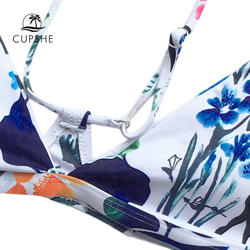 CUPSHE The Fall Floral Yours Bikini Set Women Sexy Halter Two Pieces Swimwear 2020 New Girl Beach Bathing Suits Swimsuits 3