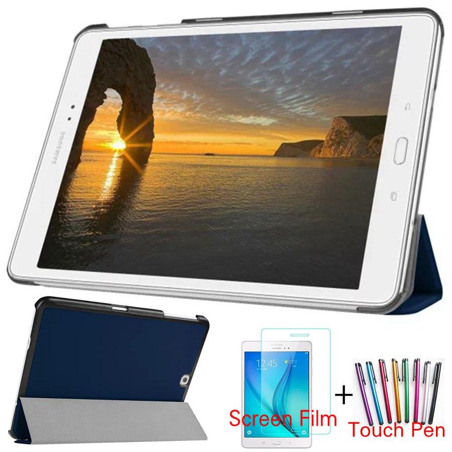 Magnétique Intelligent PU Couverture En Cuir pour Samsung Galaxy Tab S2 T810 T813 T815 T819 9.7 pouce Tablet Funda Cas + écran Protecteur + Stylo