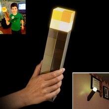 Lumière originale Up Minecraft Torche LED Minecraft Lampe À Main ou Mural