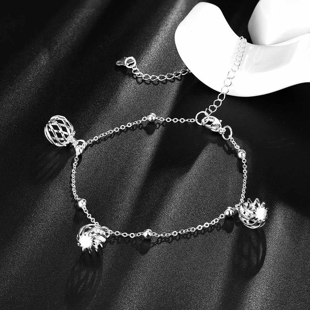 New Arrival Silver Plated Anklet for Women Unisex Jewelry Wedding Party Le collane Romantic