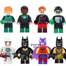 Único super heróis Clark Kent Coringa Clássico Batman Lanterna Verde Vermelho Exclusivo modelos blocos de construção de tijolos brinquedos para as crianças