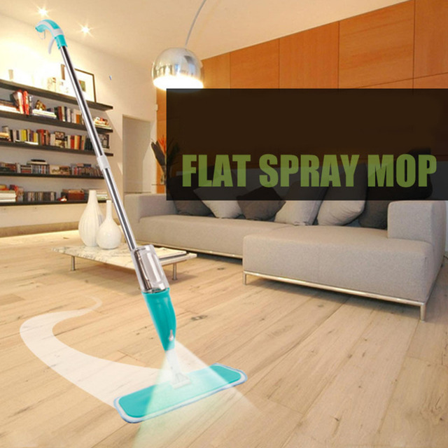 Spray Water Mop Cleaning Microfiber Cloth Hand Wash Plate Mop Home