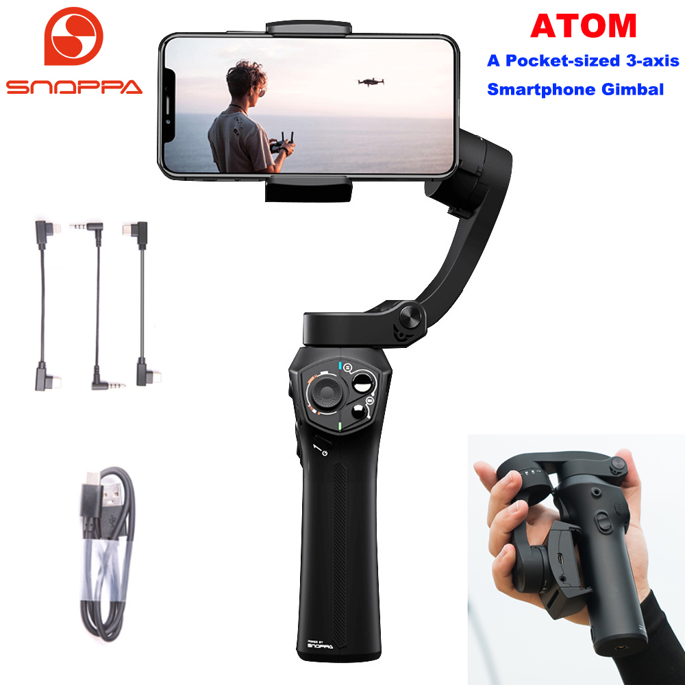 new concept eb821 b8553 Snoppa Atom 3 Axis Handheld Gimbal Smartphone Stabilizer for iPhone ...