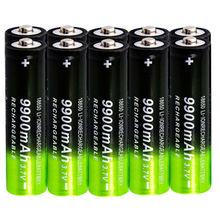 1/20 штук 9900 мА/ч, 18650 литий-ионный аккумулятор 3,7 V Перезаряжаемые Батарея для Светодиодный фонарь Фонари батареи Bateria 18650 akumulator
