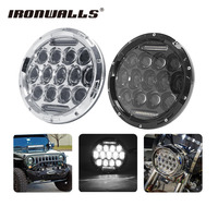 Ironwalls 7 Inch Chrome Black H4 Motorcycle Led Headlight Daymaker Projector Lamp Bulb For Harley Sportster