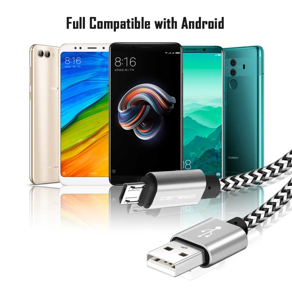 Micro USB Cabel Cable Mobile Cell Phone Charger With Cable For Xiaomi Redmi 5 Plus/Note 4X 1/2/3 Meter 3m/2m EU Charging Adapter