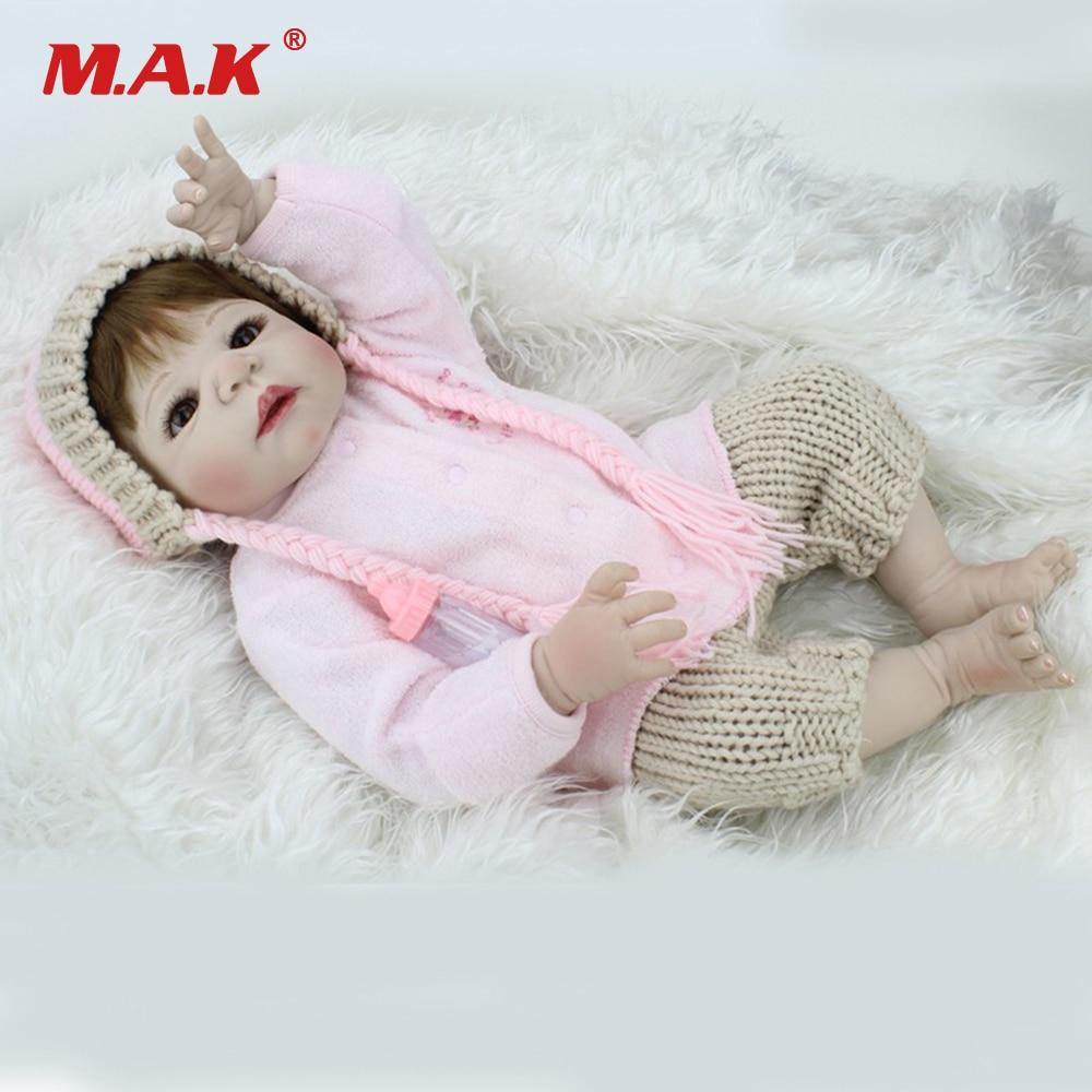 22 Inches Baby-Reborn Doll Gift for Kids Full Body Silicone 55cm Newborn Dolls Bebe Toys Reborn American Girl Children Birthday цена