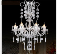 Hot Selling New Arrival Clear Luxurious Export K9 Clear Crystal Chandelier 6/8/10/12Arms Export Class A K9 Crystal Chandeliers