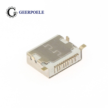 GP 10 pcs/lot Lightning Socket Iphone 10P 30V 2A Micro USB Connectors Female Port Jack Tail Plug Electric Terminals